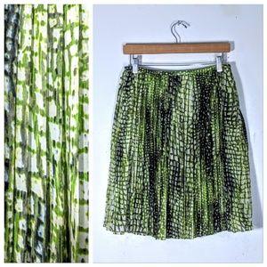 Jones New York Pleated Chiffon Skirt